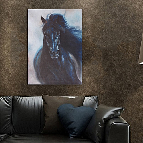 Horse Oilcolor Wall Painting Canvas Picture Art Print Unframed Mural Home Decor-Multi
