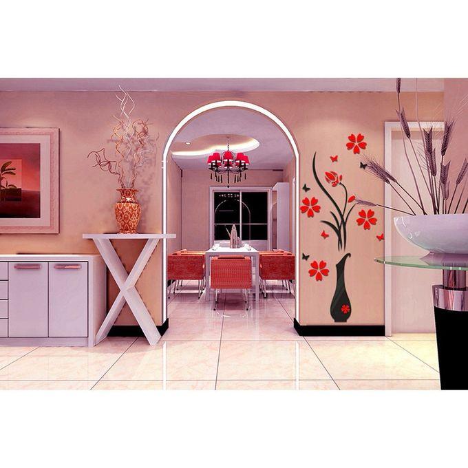 Skywolfeye 3d Vase Flower Removable Wall Vinyl Decal Art Home Decor Wall Sticker Red Buy