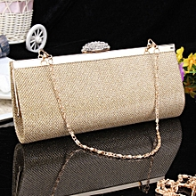 WOMENS SPARKLY GLITTER CLUTCH BAG SILVER GOLD BRIDAL PROM PARTY PURSE Gold