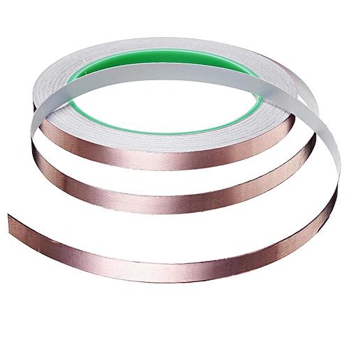 20 Meters Single Side Conductive Copper Foil Tape Strip Adhesive EMI Shielding Heat Resist Tape 8mm