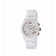 d559121243 Gents Ceremica Bracelet White Watch With White Dial And Rose Gold Roman  Numerals