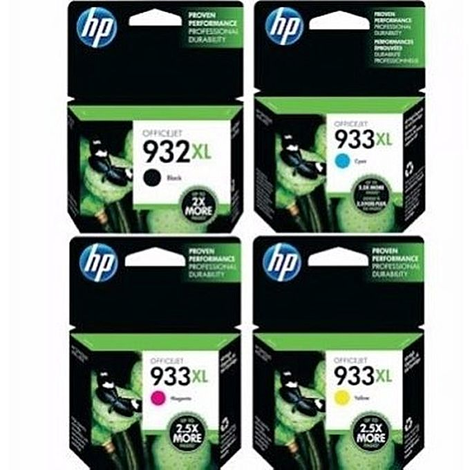 hp 932xl 933xl ink cartridge set 4 pieces buy online jumia nigeria. Black Bedroom Furniture Sets. Home Design Ideas
