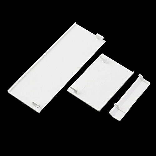 Allwin 3 Pcs White Door Slot Cover Bezel Lid Part For Nintendo Wii Console System-White