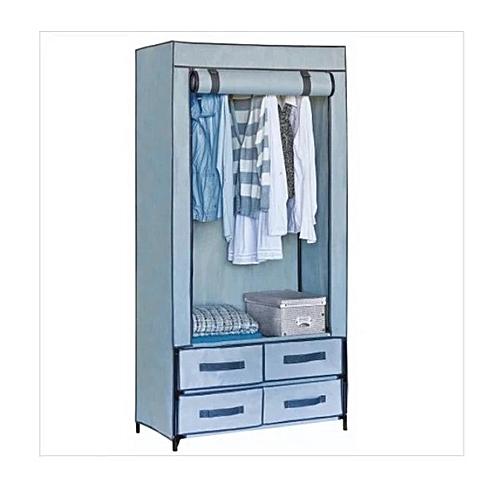 Non-woven Polypropylene 4 Drawer Hanging Wardrobe
