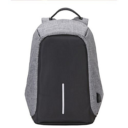 Anti-theft Laptop Backpack+External USB Charging Port – Grey