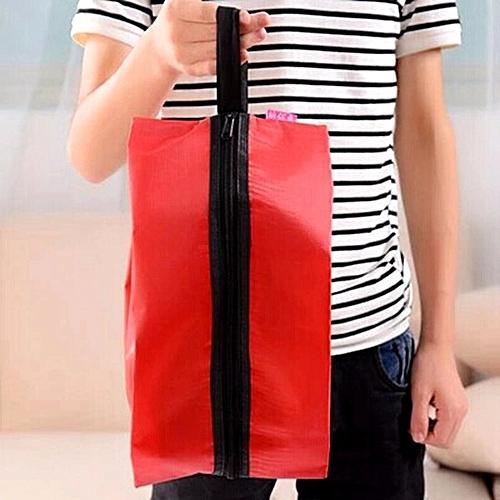 Portable Oxford Nylon Shoe Bag Multifunction Home Travel Soild Color Tote Storage Case Shoe Cover