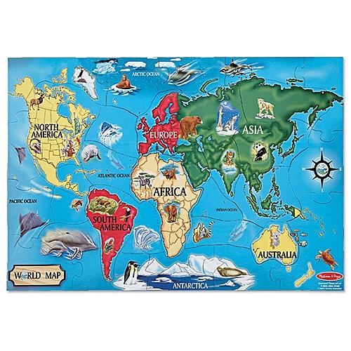Anniversary sale buy melissa doug world map 33 pcs floor puzzle world map 33 pcs floor puzzle gumiabroncs Gallery