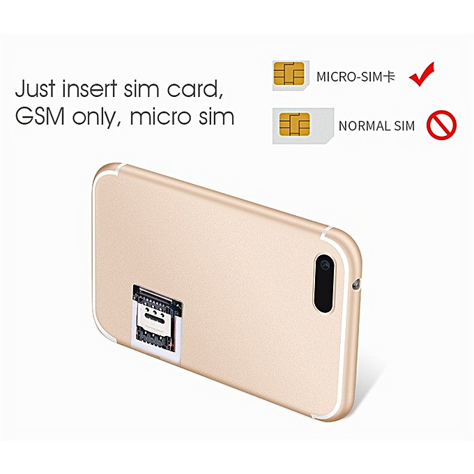 Aiek X8 Ultra Thin ATM Card Sized Phone With MP3 Player - Gold