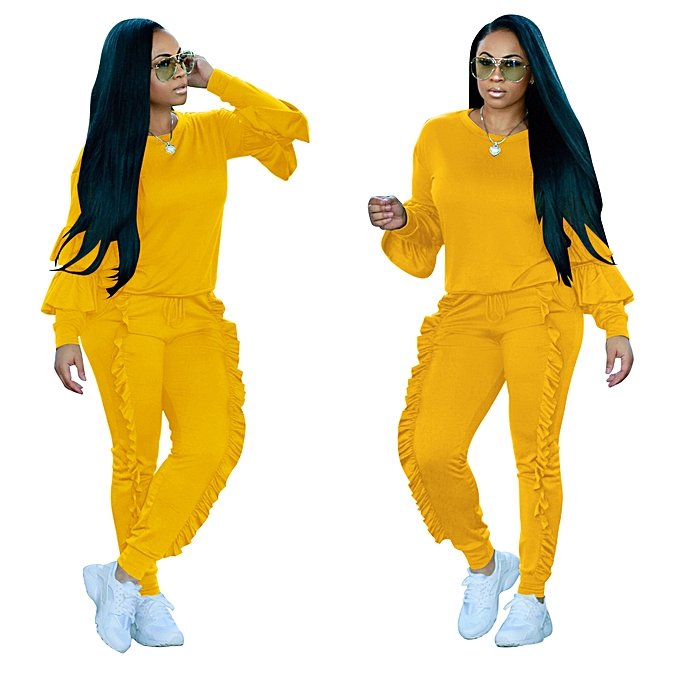 Fashion Womens Tracksuits Winter Suit Long Sleeve Two Piece Sets