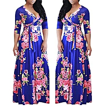 4aafd4379c1 Plus Size Floral Printed Party Maxi Dress Ankara Gown-Multi