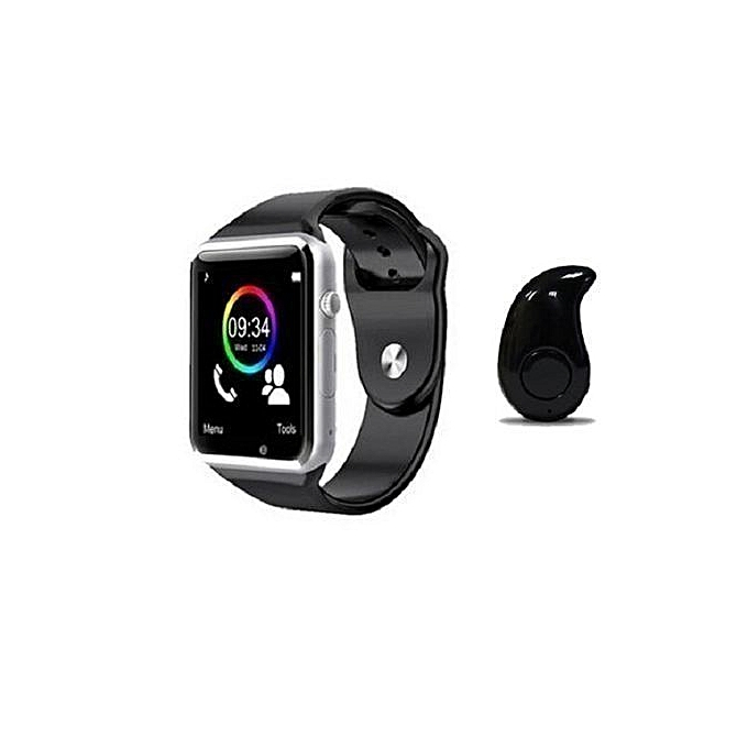 Smart Watch Phone Mate For Android, IOS (iPhones) With Mini Bluetooth  Earpiece