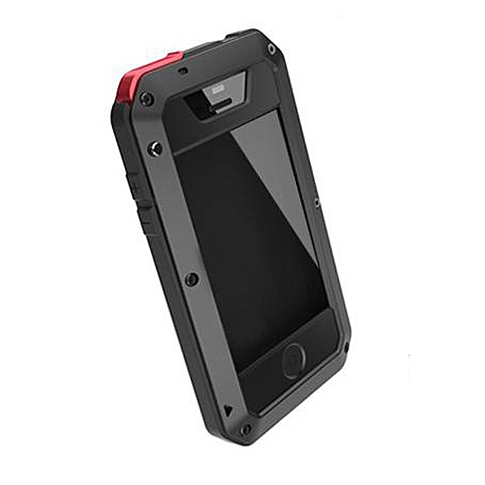 brand new 6c576 53dd1 Metal Shockproof Case For IPhone 4s (Black)