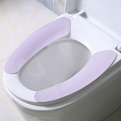 Shinewerop House Practical Simple Pure Color Plush Toilet Seat Cushion