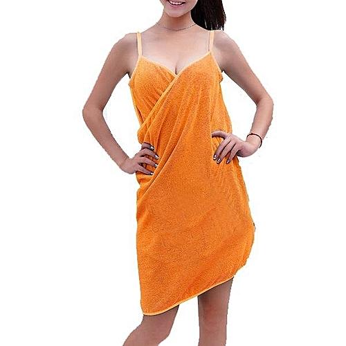 Soft Shoulder Straps Lady Wearable Bath Towel Beach Cloth Beach Spa Bathrobes Bath Skirt