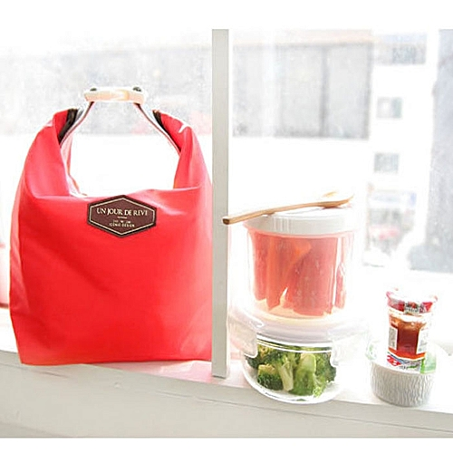 Dtrestocy Tote Portable Insulated Pouch Cooler Waterproof Food Storage Bag Red
