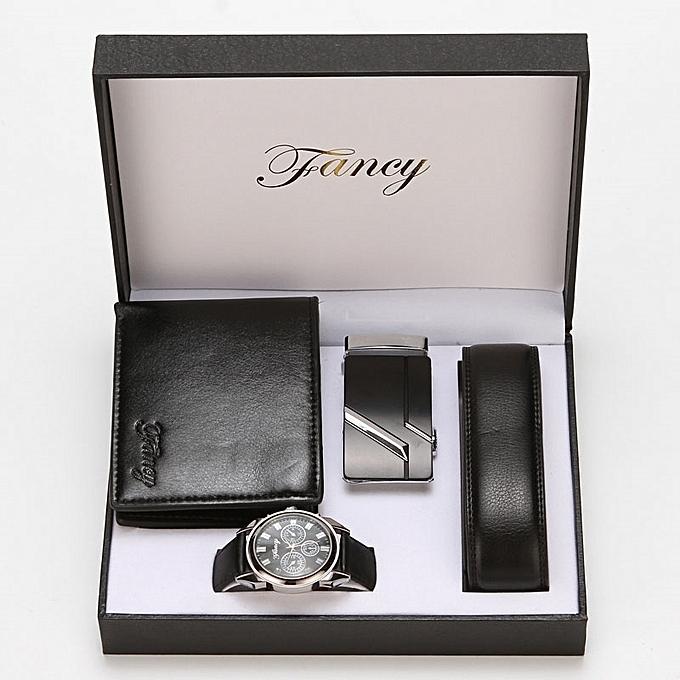 Gift Box Set Two Belt Wallet WatchGift Lettering