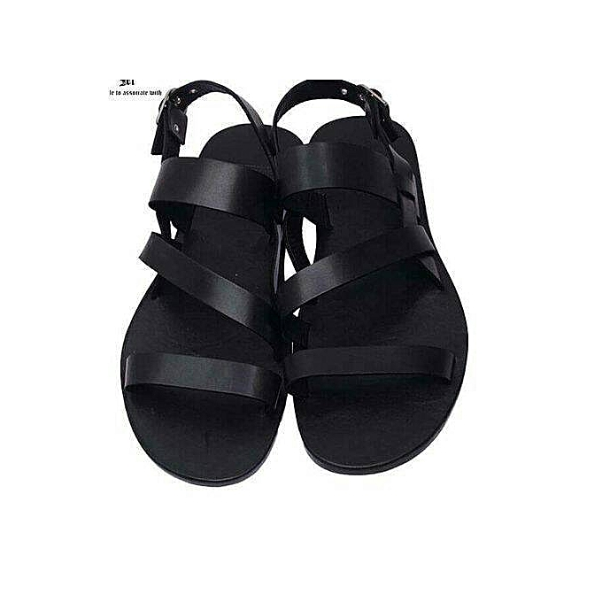 cc0e05b02493a Fashionable Men's Leather Sandal > Black