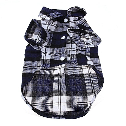 bcadd2bfad36 Allwin Fashionable Plaid Pet Shirt Summer Dog Shirt Casual Dog Tops Dog  Clothes Blue S