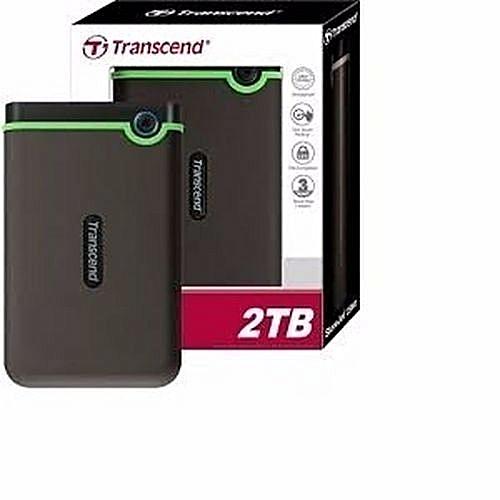 Transcend 2tb Portable External Hard Drive Shockproof Design Durable