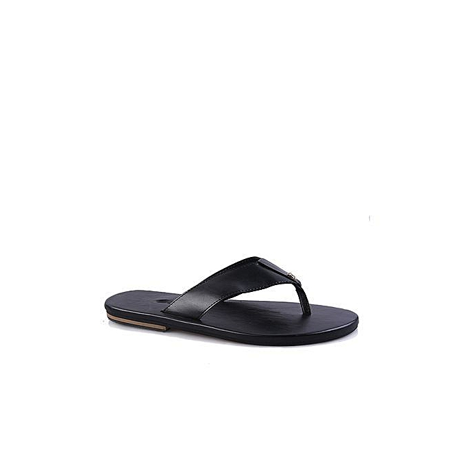 797c7e503 Fashion Flat Awesome Leather Palm Slippers - Black | Jumia NG