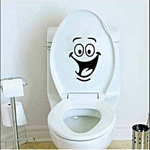Cute Smiley Face Toilet/laptop Sticker