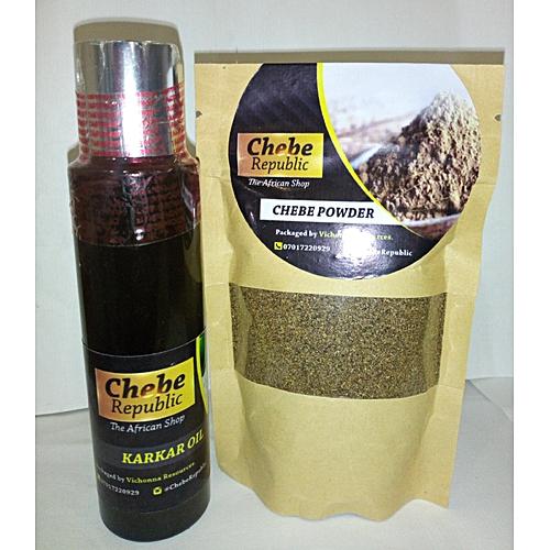 Chebe Powder - 50g And Karkar OIl - 100ml