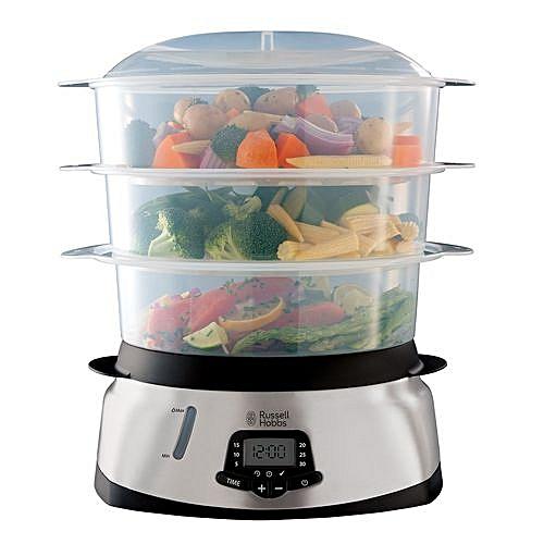 Versatile Digital 3-Tier Fish & Vegetables Turbo Steamer - 9L