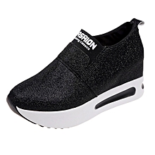 Used, Hiamok  Women Flat Thick Bottom Shoes Slip On Ankle Boots Casual Platform Sport Shoes for sale  Nigeria