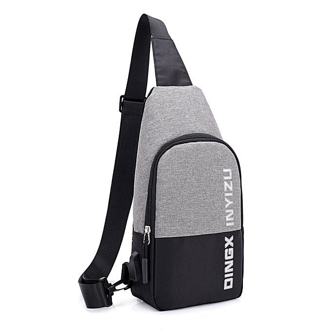 158162efef Multifunctional Chest Bag USB Charging Chest Bag Anti-theft Crossbody Bags