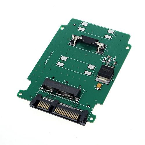 Fenhehu 1PC MSATA Mini PCI-E SATA SSD To 7+15 Pin 22 Pin SATA Adapter Card