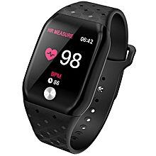 62ed4555503 Smart Watches Heart Rate Monitor Bluetooth Fitness Tracker Sleep Step  Calorie SmartWatch - Black