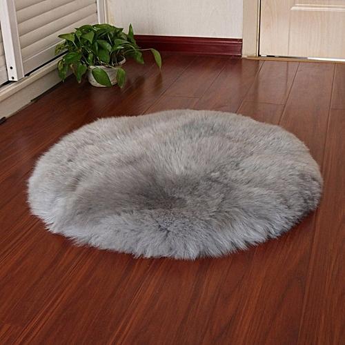 Soft Artificial Sheepskin Rug Chair Cover Artificial Wool Warm Hairy Carpet Gray