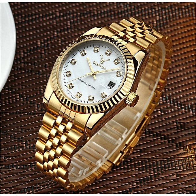 00a5c8691b2 ... Lan Ji DEERFUN Gold Role Quartz Watch Men Clock TopLuxury Wrist  WatchesGolden Hodinky Relogio Masculino Quartzwatch ...