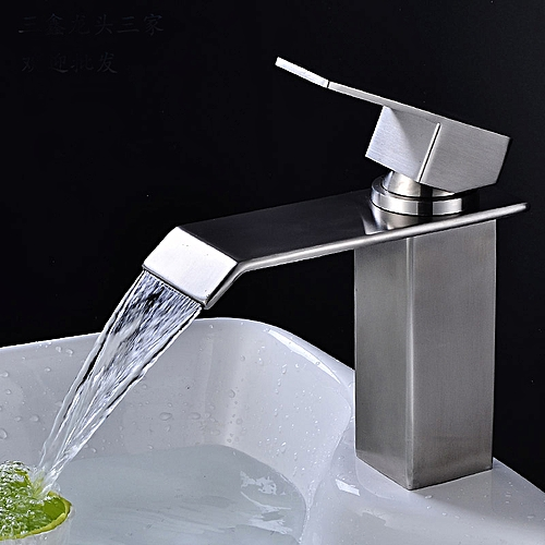 Bathroom Hot Cold Water Faucet Waterfall Basin Water Tap