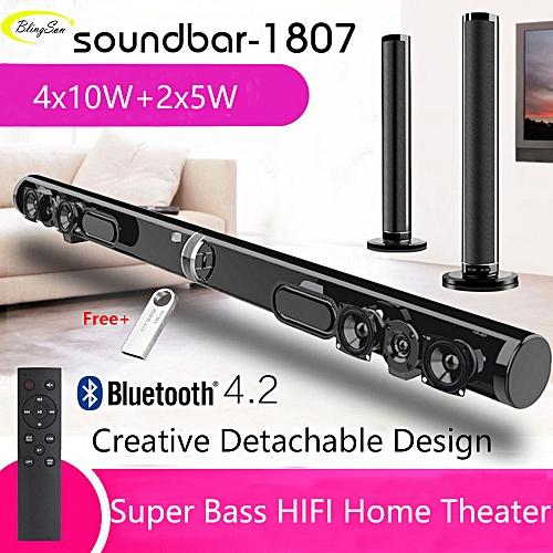 Wireless Soundbar 3D Stereo Bass Surround TV Home Theater