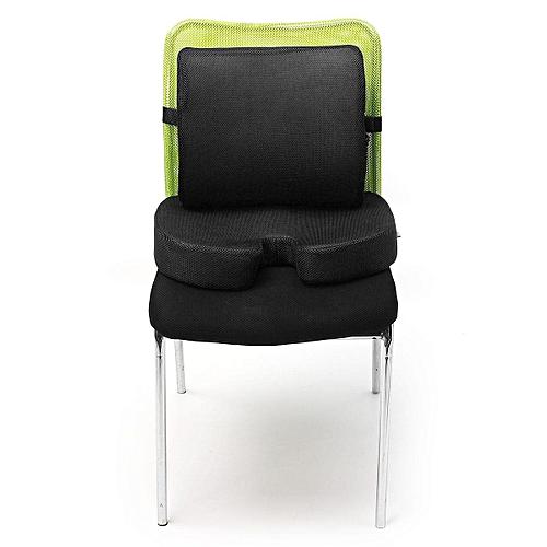 Orthopedic Seat Cushion BUNDLE – Tailbone & Lumbar Support For Office Chair