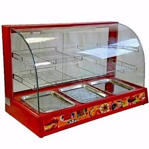 Display Snacks Warmer Red 3pans 3steps