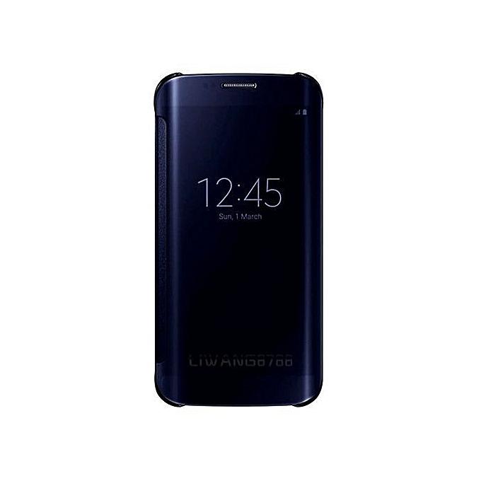 Flip Cover Case For Samsung Galaxy S8 Plus Black NO Sensor