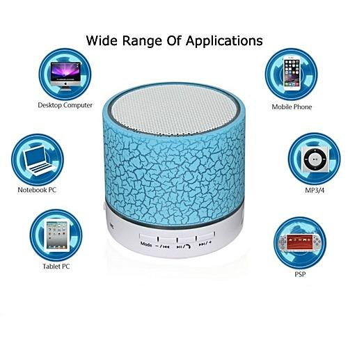 A9 Wireless Bluetooth Speaker LED TF USB Music Player_Blue