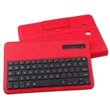 For Samsung Galaxy TAB E T560 Flip Bluetooth Keyboard Leather Case Cover Red