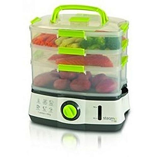 Beautiful Healthy Meals 3-Tier Electric Steamer - 9 Litre