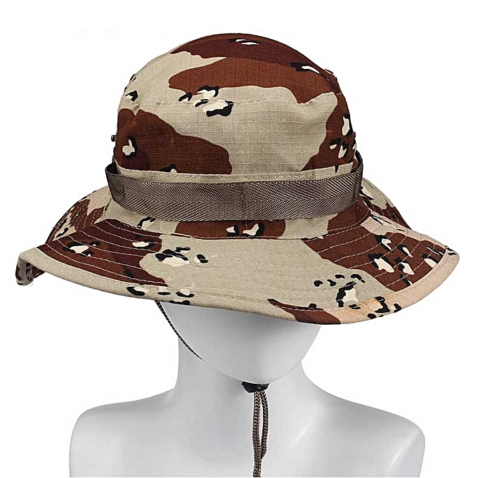 a369f3382f7ac Bucket Hat Boonie Hunting Fishing Outdoor Wide Cap Brim Military Khaki