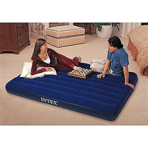 King Size Inflatable Air Bed With Pump - 2 Person