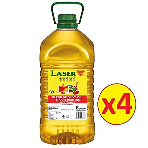 Laser Blend Of Olive Oil And Rapeseed Oil 5 Liters Pack Of 4