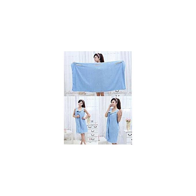 f810bac489 Generic Female Bath Robe   Body Wrap Towel - Blue