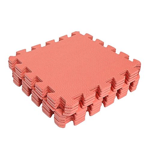 9 PCS Interlocking Anti-fatigue Waterproof Puzzle Floor Foam Mats Red