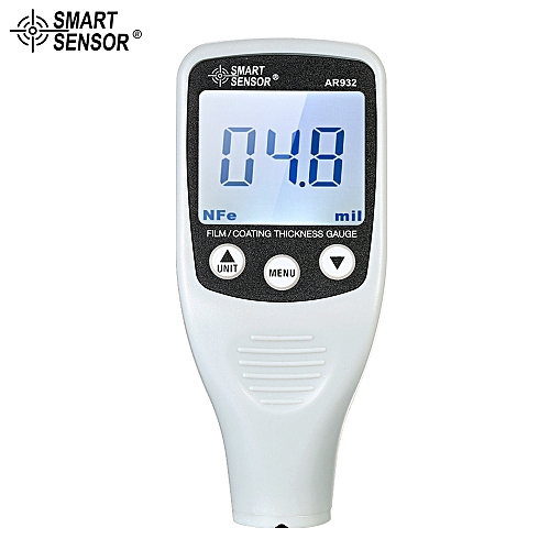 SMART SENSOR Digital Paint Coating Thickness Gauge Handheld Coatings Thickness Tester With Auto Function Fe/NF Probe Car Detector Automotive Coating Refinishing Cars Paint Tester Meter (0~1700um)