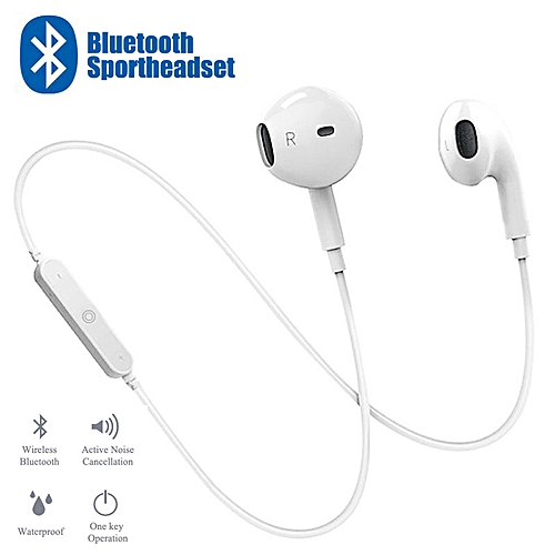 S6 Bluetooth 4.1 Headphone In-ear Sports Music Headset Built-in Microphone Wireless Sports Earphone