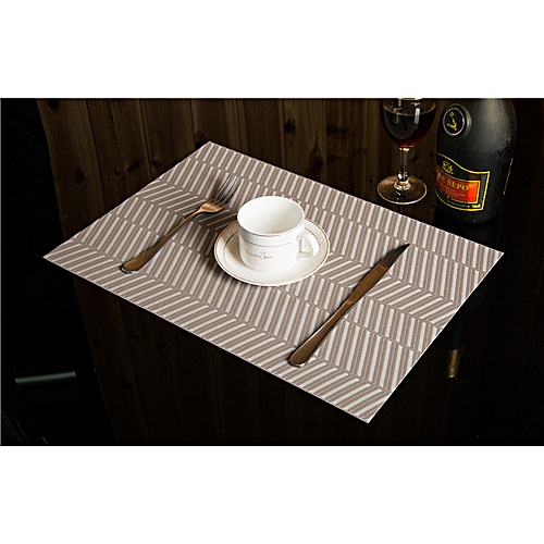 KCASA Placemat Fashion Dining Table Mat Disc Pads Bowl Pad Coasters Waterproof Table Cloth Pad S