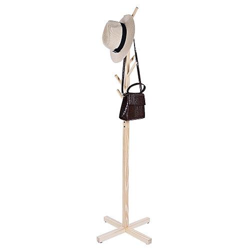 Tree Style Wooden Clothes Coat Hat Rack Stand Standing Hanger Floor Stand Bedroom